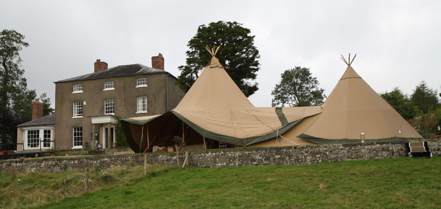 Oerley Hall Series I with Lapland Tent from Event in a Tent