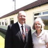 Chairman, Geoff Stamp, with Mayor for Taunton Deane, Vivienne Stock-Williams