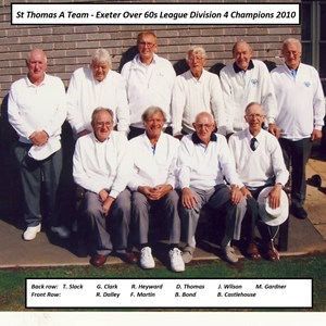 St Thomas A Over 60s Division 4 Champions 2010