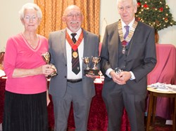 Ron Collins, Muriel Goodridge Ann Martin (absent) - Winners John Geary Trophy