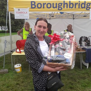 One of the tombola winners at Aldborough & Boroughbridge Show
