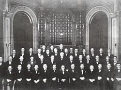 Sidmouth Male Voice Choir in the 1940's at Sidholme