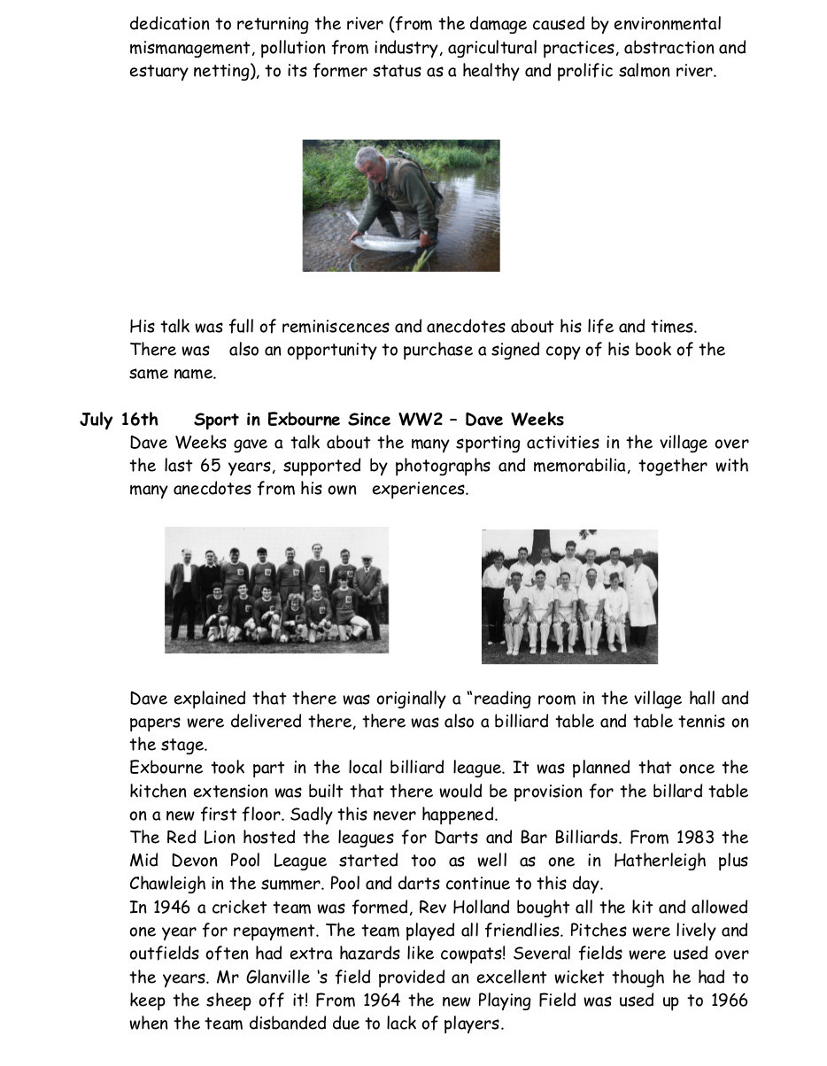 Exbourne Local History Group 2013-2014