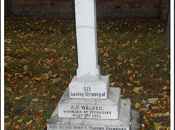 Pte Albert Walker's grave in St Giles Church, Balderton