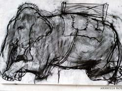 Tara The elephant. 1993.  Sold £165.00