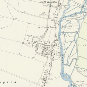 Victorian Map showing Central and North Houghton
