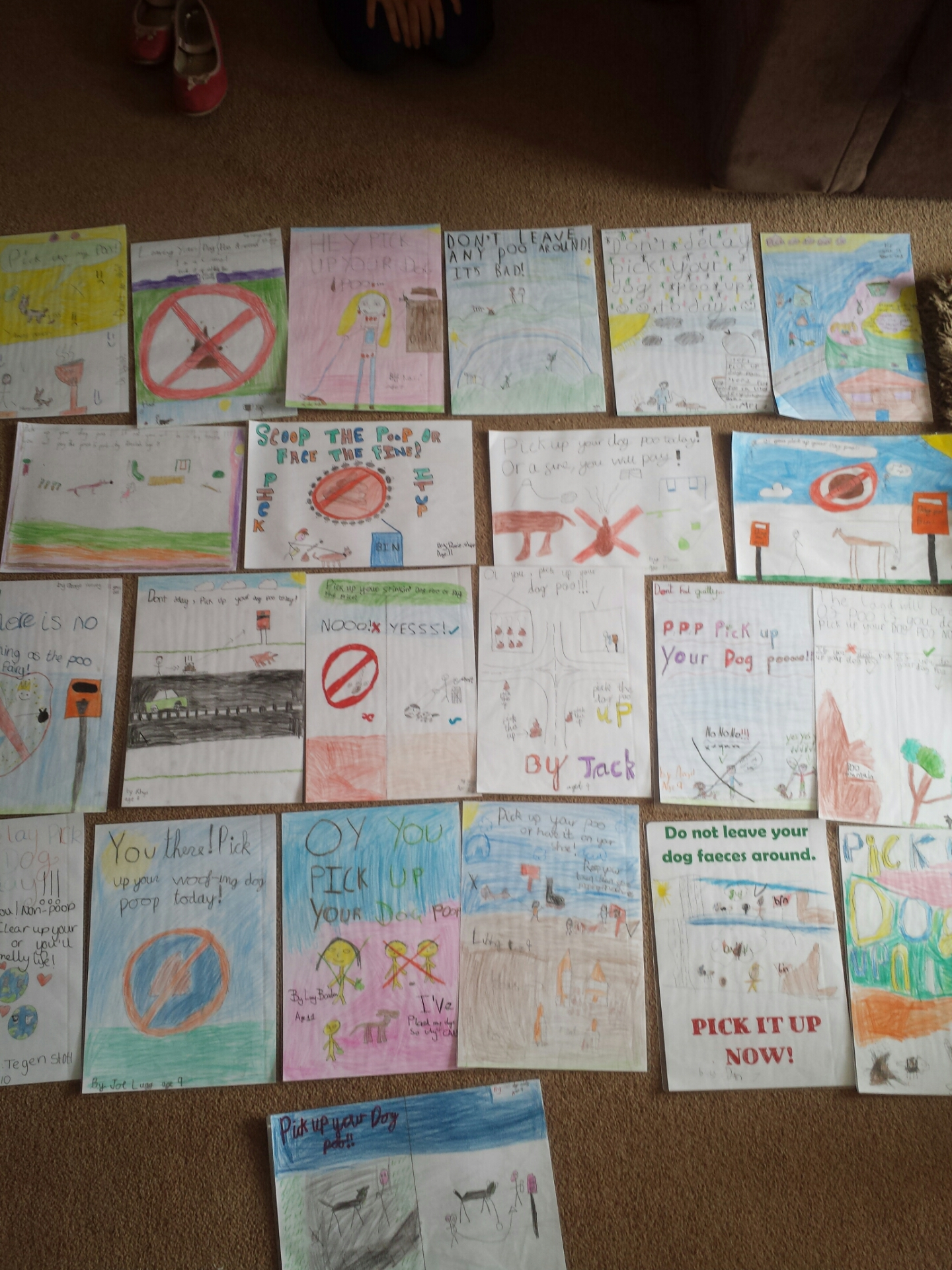 Posters designed by KS2 pupils