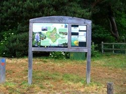 Noticeboard on Hothfield Heathlands