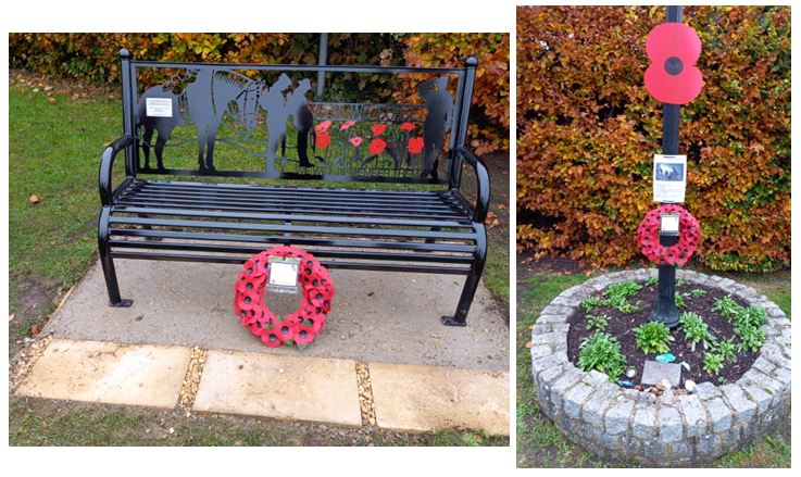 Our new Memorial Bench Seat commemorating all that served from Cosgrove & Old Stratford. We will remember them