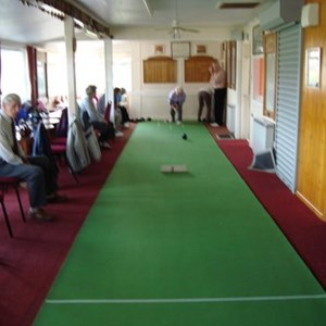 2015 - Short Mat bowling before the clubhouse extension.