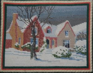 Kneeler Village Hall (winter scene)