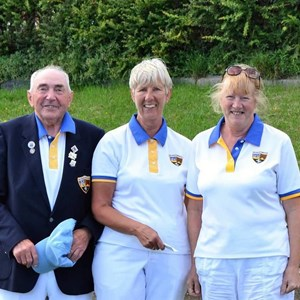 2017 Ramsgate Mixed Triples 3rd Place _ Don Jordan _ Joyce Wing _ Judith Bax