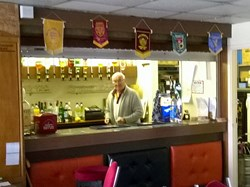 Dave, our friendly barman