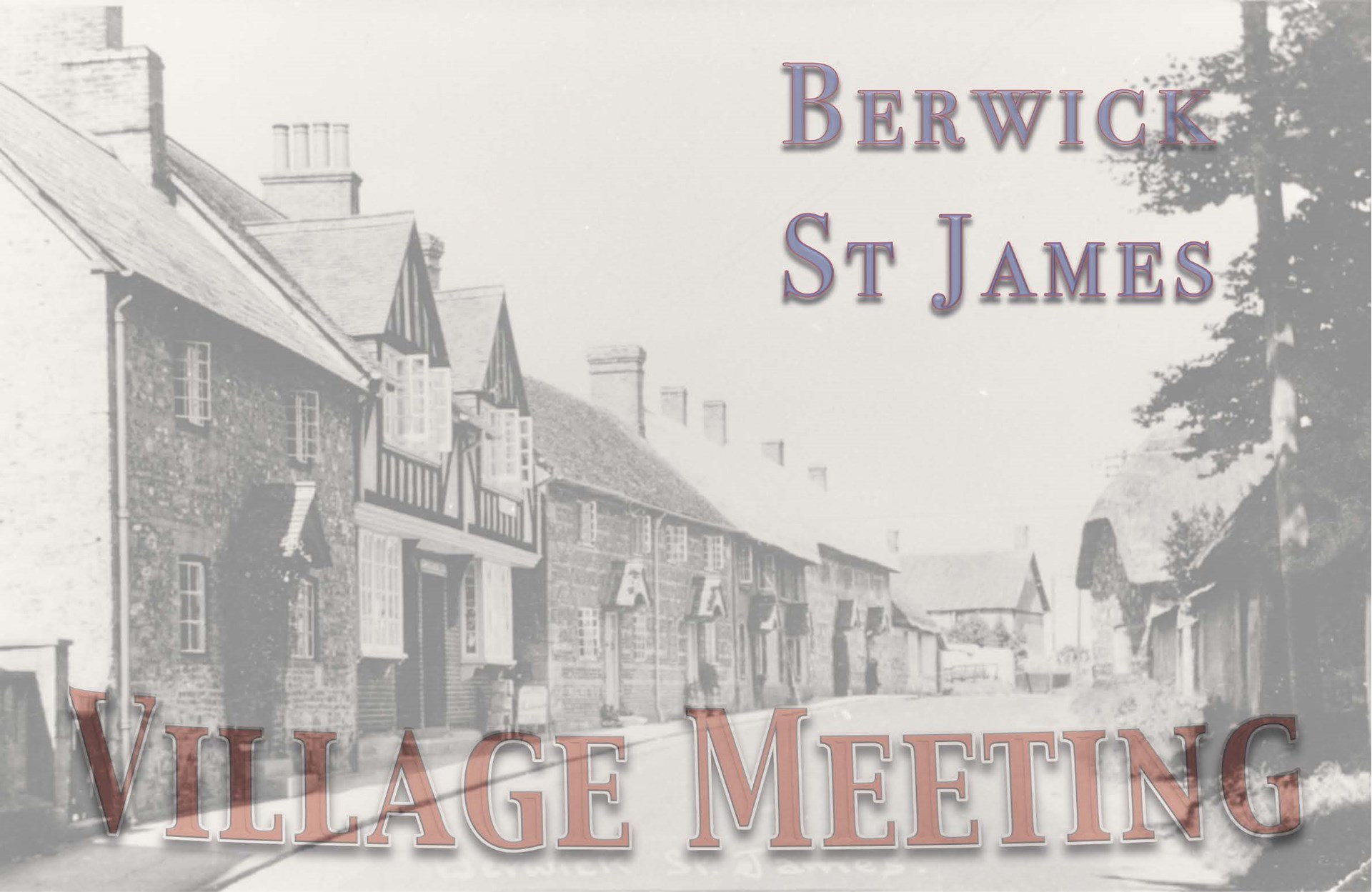 Berwick St James Parish Village Meeting - 7 October '13