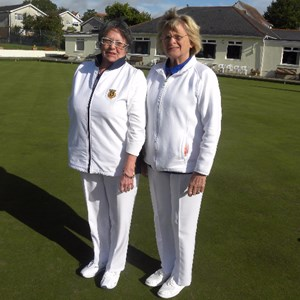 Chris Davies & Lars White Ladies 4 Wood Pairs Winners