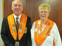 Tony and Rita Mace, 2017 presidents of the Northants Bowling Federation and the Northants Women's Bowling Federation - and they also celebrate their Golden Wedding.