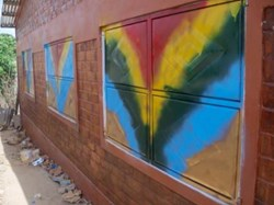 Metal Shutters with Rainbow paint