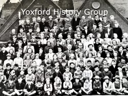 The last photo of staff and pupils of Yoxford School with pupils aged 5-15