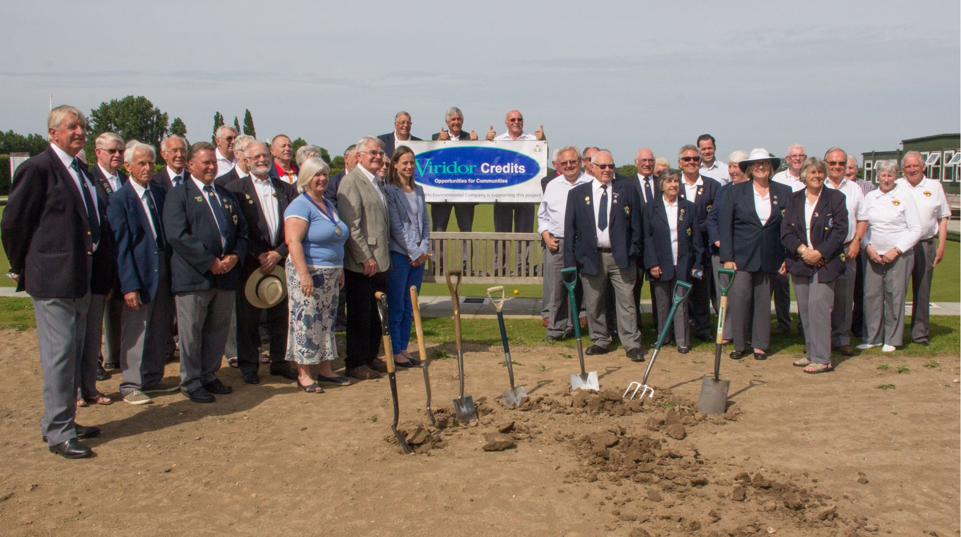 Members and guests at the ground breaking ceremony