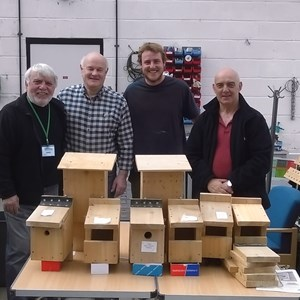 The Bird and Bat Box team from Frome Town Council and the Frome Shed