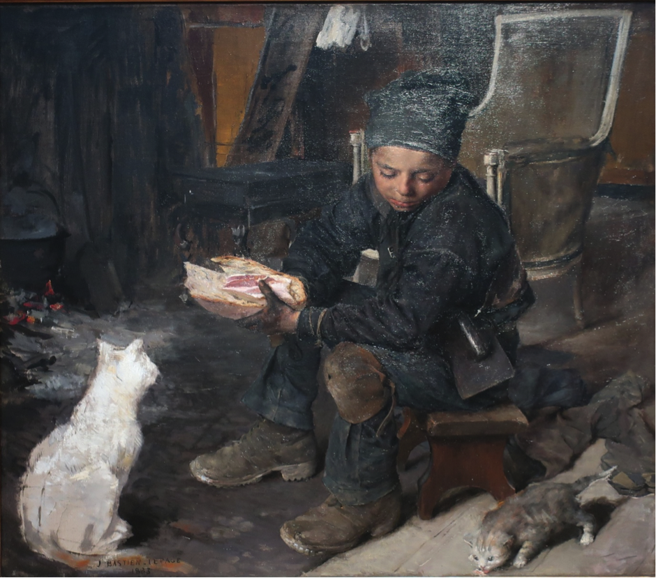 1883. The Little Chimney Sweep, oil on canvas, Jules Bastien-Lepage