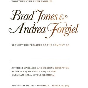 Wedding Invitations, The Foil Invite Company