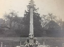 North Collingham War Memorial Cross soon after the unveiling c 1919