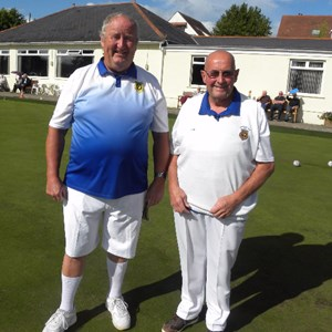 Charles Lewis & Tom Evans Men's Two Wood Pairs Winners