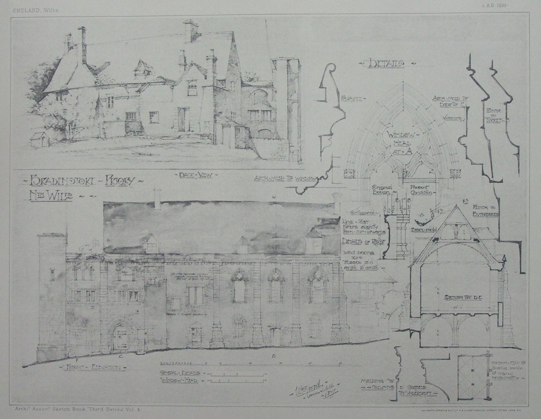 Bradenstoke Priory ( The Architectural Association Sketch Book 1897)