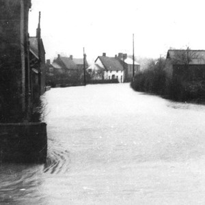 1954 Floods Kelmarsh Road
