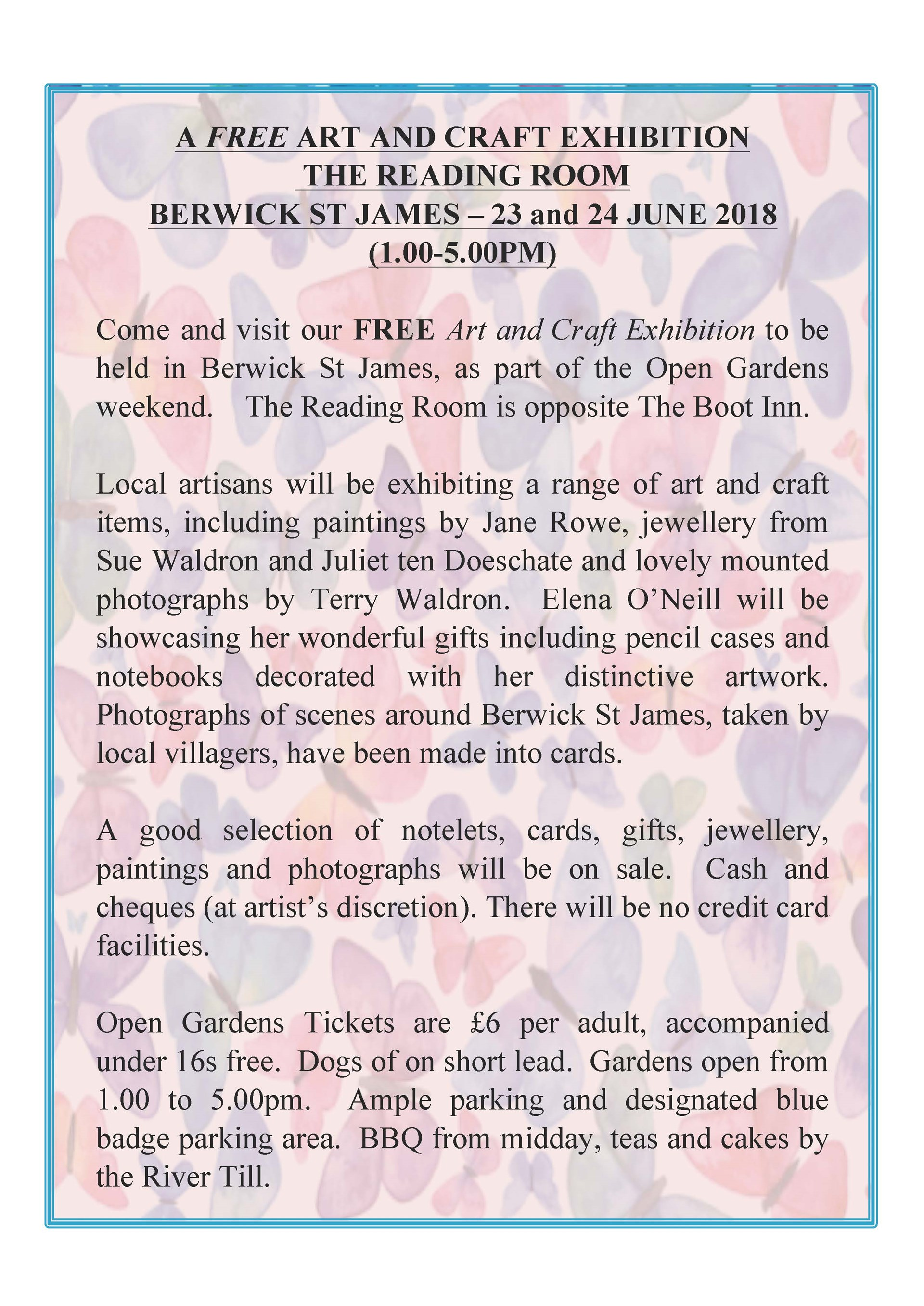 Berwick St James Parish Art and Craft Exhibition