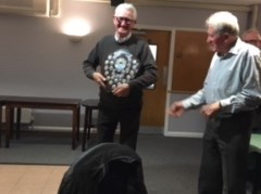 Eric as Chairman presenting to his brother Jim as winner!!