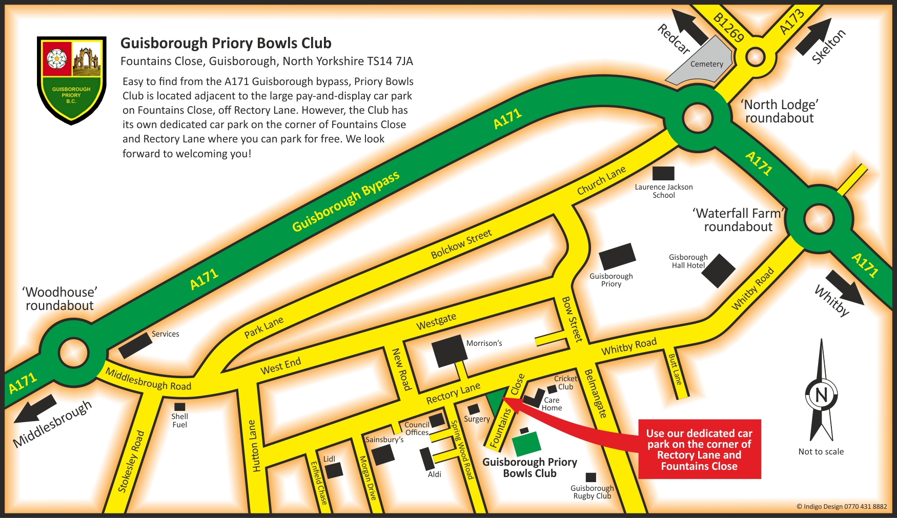 Guisborough Priory Bowls Club How to find us