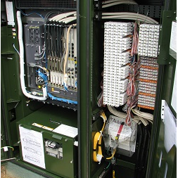 BT DSLAM Fibre cabinet with connectors to your telephone line