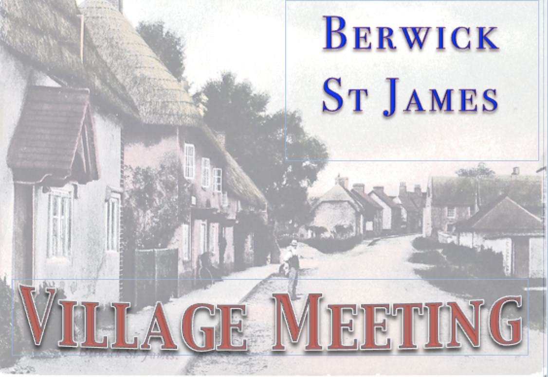 Berwick St James Parish Village Meeting - 15 Janu