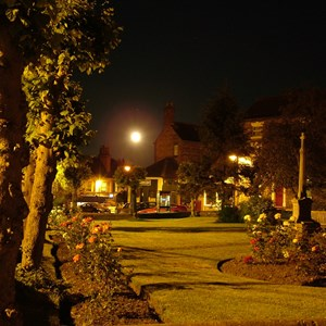 Full Moon over Memorial Garden. credit: Jan Lancaster