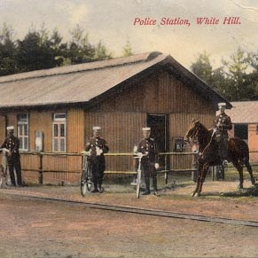 Police station with narrow-gauge line