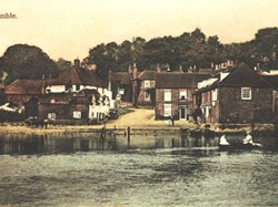 Hamble viewed from the river, 1905