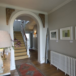 Hall with Rosemary Vann's Prints