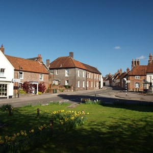 The market Square, Kingsclere, taken from the churchyard