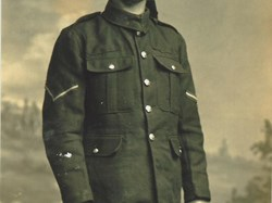Herbert Evans in uniform. He went on to become headteacher at the Boys' School