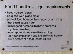 Food Handling - Legal Requirements
