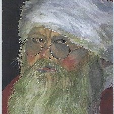 Father Christmas - Painting by John Young