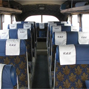 Interior seating of Bedford OB