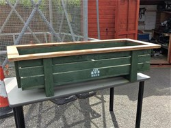 The RWB Shed Planter hedgehog boxes & signs