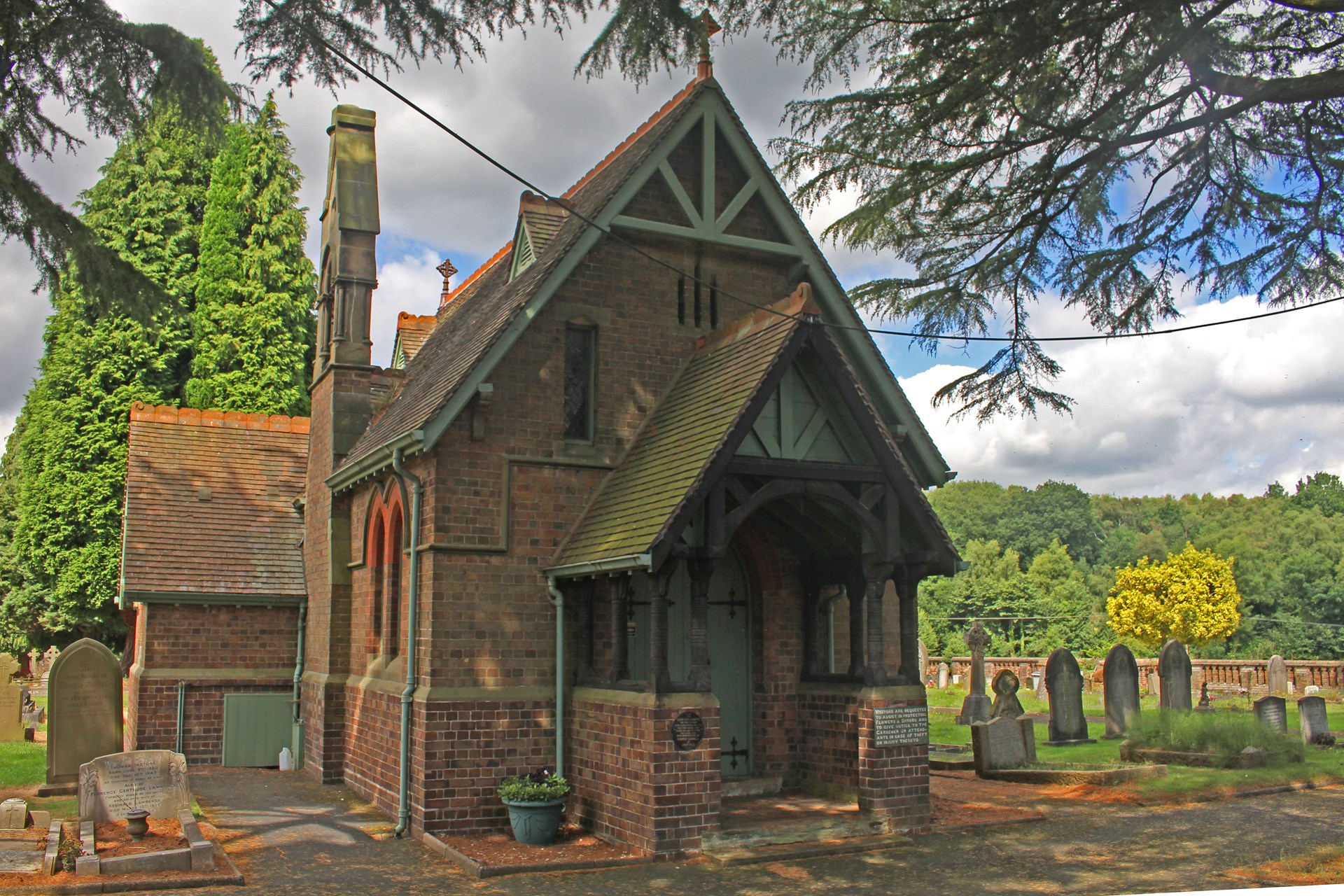 Image Credit Dave Wallace. Cemetery Chapel, viewing by appointment