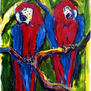 Macaws No: 2  Sold £150.00